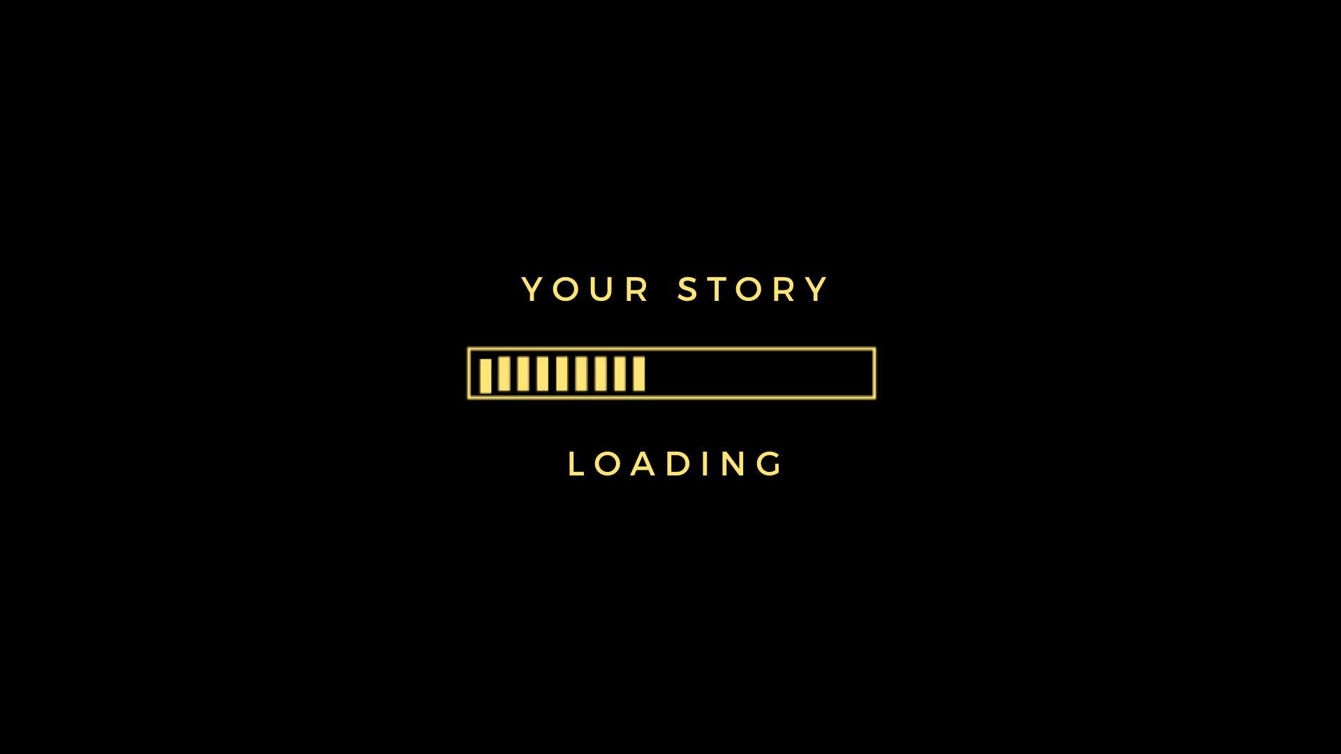 Your story loading computer screen