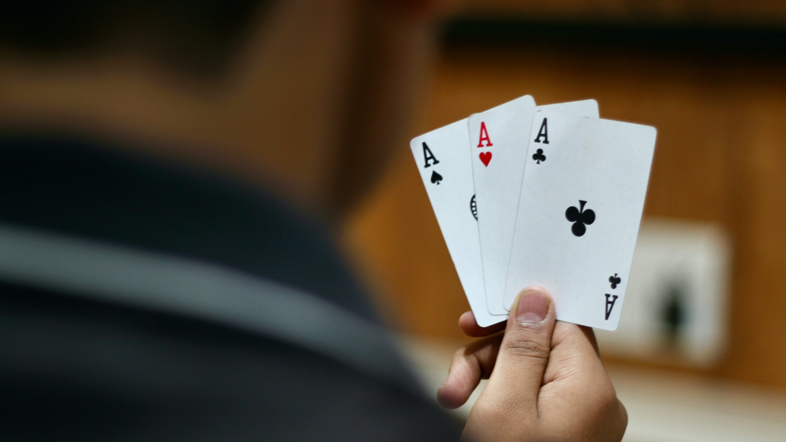 Three cards that are aces