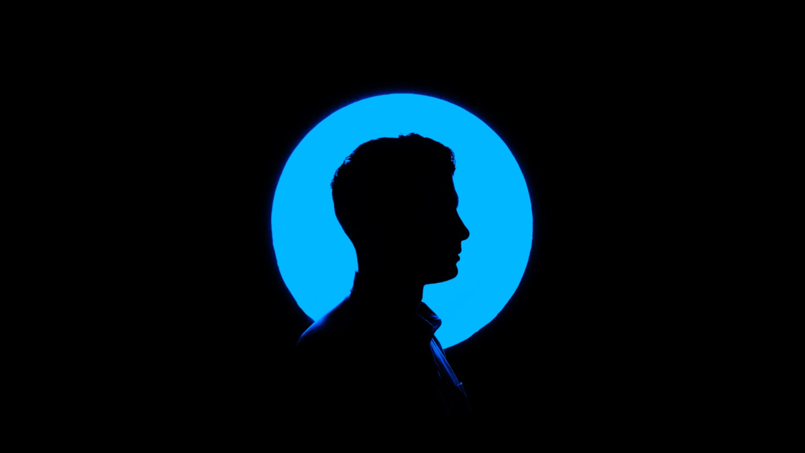 silhouette of a man graphic